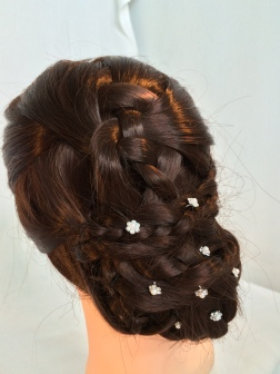 Four Braided Hairstyle with accessories