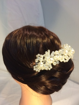 Elegant Weave Hairstyle with accessories